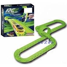Автотрек JJ Slot Racing Track неоновая трасса 566 см, 2 машинки (123)
