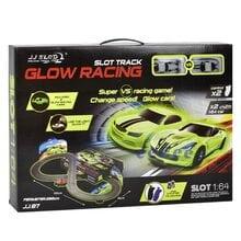 Автотрек JJ Slot Glow Racing 102х26см, 2 петли, 2 машинки (87-2)