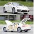 Коллекционная машинка ТК Union Group Porsche Panamera моделька металлическая игрушка открываются двери 1:24 Белый (3661602)