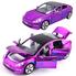Машинка ТК Union Group Tesla Model 3 моделька коллекционная металлическая игрушка с подсветкой фар 1:32 Фиолетовый (4882658)
