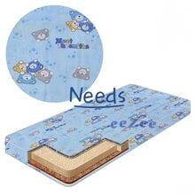 Матрас детский Беби-Текс 039 Мишки 60х120х8 трехслойный КПГ-1 Голубой