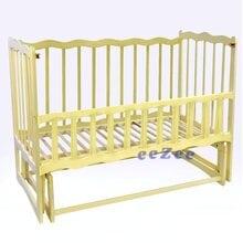 Детская кроватка For Baby Волна деревянная маятник Слоновая кость