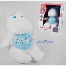 Игрушка ночник детский Brettbble No41A Бегемотик со световыми и звуковыми эффектами