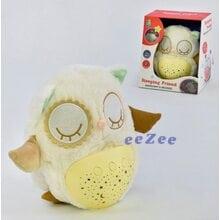 Игрушка ночник детский Brettbble No38A Сова со световыми и звуковыми эффектами