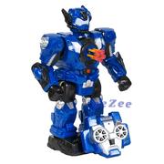Робот на радиоуправлении Play Smart Робовоин 34 см стреляет ходит танцует со светом и звуком Синий (5895275)