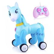Робот пони-лошадка на радиоуправлении для девочки Jia Yu Toy с проектором Голубой (n7877468)