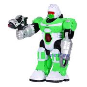 Робот игрушка TK Union Group ходит со светом и звуком 26 см Зеленый (9877148)
