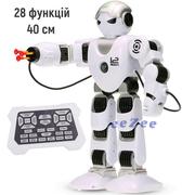 Робот на пульте управления большой TK Union Group 40 см 28 функций стреляет ходит танцует Белый/Черный (5508016)