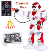 Робот на радиоуправлении TK Union Group 40 см 28 функций ходит стреляет танцует Белый/Красный (4254308)