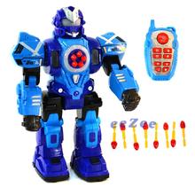 Робот на радиоуправлении Jia Yu Toy 34 см ходит стреляет светящийся со звуком Синий (4041612)