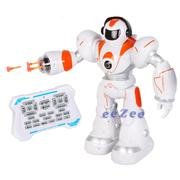 Робот на пульте управления Lezo Robot Aerla 35 см 28 функций танцует ходит стреляет Белый/Оранжевый (6652655)