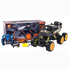 Джип на пульте управления DongBang внедорожник багги 6 колес полный привод Черный/Оранжевый (2274498)
