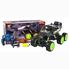 Машина джип на радиоуправлении DongBang 6 колес внедорожник багги полный привод Черный/Зеленый (5803215)