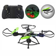 Квадрокоптер дрон Sky Eye Drone 697 с HD-камерой wi-fi и подсветкой Черный / Салатовый (1772633)