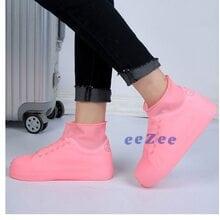 Чехлы бахилы на обувь от дождя Berill 5334 резиновые размер 31-35 Розовые