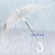 Зонт трость женский Mario 14 спиц полуавтомат Прозрачный/Белый (7981749)