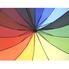 Зонт трость Радуга женский SL полуавтомат 16 спиц купол 103 см Радужный (1731139)