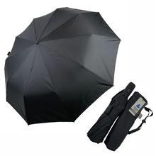 Зонт автомат Silver Rain sa04 мужской-женский 10 спиц антиветер складной Черный