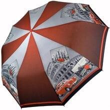 Зонт женский автомат Flagman fa5101 складной 10 спиц антиветер с чехлом Бордовый