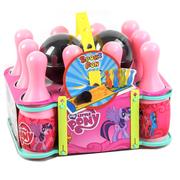 Кегли детские для боулинга игрушка 10 кегель 2 шара для девочек Розовый (3531744)