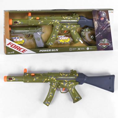 Автомат игрушечный детский военный Ocoqo Force с пистолетом Хаки (r49771)