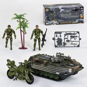 Детский набор военной техники игровой Hanwei Toys Military Play Set с танком и солдатиками Хаки (r785984)