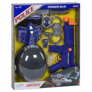 Детский полицейский набор с каской Ocoqo Police с автоматом маской и наручниками Синий (r590383)