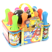 Боулинг детский игрушка набор 10 кегель и 2 шара Разноцветный (2695156)