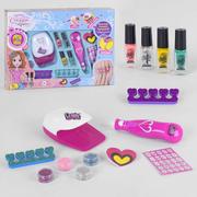 Детский маникюрный набор с лампой игровой для девочек Fun Game Студия Красоты с лаками и блестками (2327667)