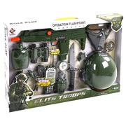 Набор военного с каской детский игровой Yueqiang с автоматом и маской Хаки (9840873)