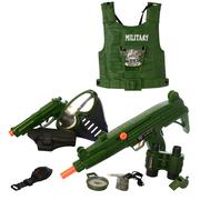 Военный игровой набор с жилетом детский Yueqiang с автоматом пистолетом и маской Хаки (4426458)