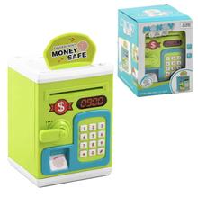 Копилка сейф детский Jia Yu Toy с отпечатком пальца и паролем электронный для купюр и монет 20 см Салатовый (3827224)