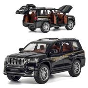 Коллекционная машинка ТК Union Group Toyota Prado Land Cruiser металлическая моделька игрушка 1:24 Черный (9942361)