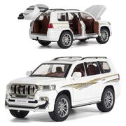 Машинка коллекционная ТК Union Group Toyota Prado Land Cruiser моделька металлическая игрушка 1:24 Белый (8174115)