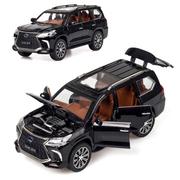 Коллекционная машинка ТК Union Group Lexus LX570 металлическая моделька игрушка 1:24 Черный (8340711)