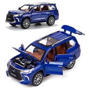 Коллекционная машинка ТК Union Group Lexus LX570 металлическая моделька игрушка 1:24 Синий (8836488)