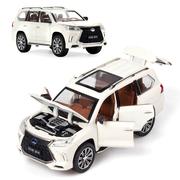 Коллекционная машинка ТК Union Group Lexus LX570 металлическая моделька игрушка 1:24 Белый (3559212)