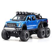 Машинка коллекционная внедорожник ТК Union Group Ford Raptor джип с мотоциклом металлический игрушечный с подсветкой фар 1:24 Синий (6368704)