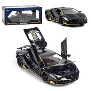 Машинка коллекционная ТК Union Group Lamborghini металлическая моделька игрушка открываются двери 1:24 Черный (3744500)
