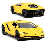 Машинка ТК Union Group Lamborghini моделька коллекционная металлическая игрушка открываются двери 1:24 Желтый (2518917)