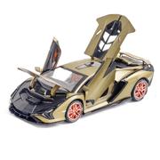 Машинка коллекционная ТК Union Group Lamborghini Sian металлическая моделька спорткар игрушка 1:24 Хаки (9612605)