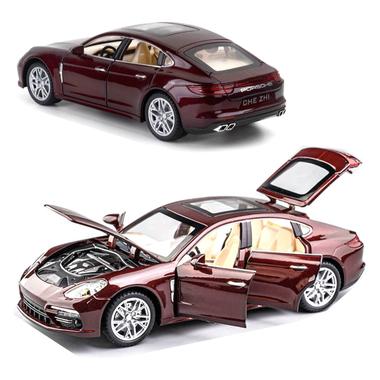 Машинка коллекционная ТК Union Group Porsche Panamera металлическая моделька игрушка открываются двери 1:24 Бордовый (9188846)