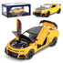 Машинка коллекционная ТК Union Group Chevrolet Camaro металлическая моделька игрушка открываются двери 1:24 Оранжево-черная (9265942)