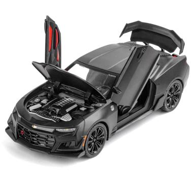 Коллекционная машинка ТК Union Group Chevrolet Camaro моделька металлическая игрушка 1:24 Черный (3880383)