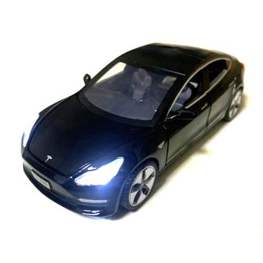 Машинка коллекционная ТК Union Group Tesla Model 3 моделька игрушка металлическая с подсветкой фар 1:32 Черный (6749643)