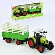 Трактор с прицепом Farmland инерционный со светом и звуками 39 см Зеленый (3609424)