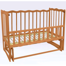 Детская кроватка For Baby Волна деревянная маятник Светло-коричневая