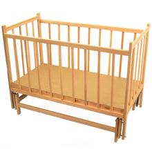Детская кроватка For Baby №7 деревянная маятник Ольха