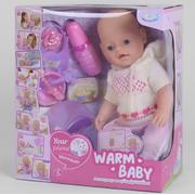 Пупс интерактивный Warm Baby функциональный 40 см с горшком кукла для девочки с аксессуарами (52137)