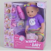Пупс Warm Baby интерактивный функциональный 40 см кукла для девочки с горшком и аксессуарами (52131)